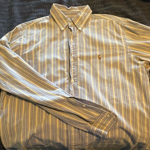Yellow/blue striped Polo Ralph Lauren shirt